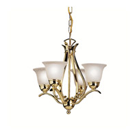 Kichler Lighting Dover 4 Light Mini Chandelier in Polished Brass 2019PB photo thumbnail