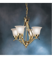 Kichler Lighting Dover 4 Light Mini Chandelier in Polished Brass 2019PB alternative photo thumbnail
