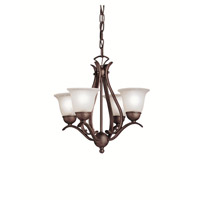 Kichler 2019TZ Dover 4 Light 18 inch Tannery Bronze Mini Chandelier Ceiling Light