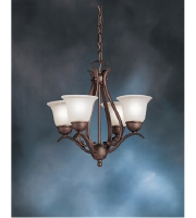 Kichler Lighting Dover 4 Light Mini Chandelier in Tannery Bronze 2019TZ alternative photo thumbnail