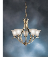 Kichler 2020AB Dover 5 Light 24 inch Antique Brass Chandelier Ceiling Light alternative photo thumbnail