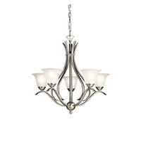 Kichler 2020NI Dover 5 Light 24 inch Brushed Nickel Chandelier Ceiling Light