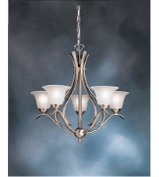 Kichler 2020NI Dover 5 Light 24 inch Brushed Nickel Chandelier Ceiling Light, Medium alternative photo thumbnail