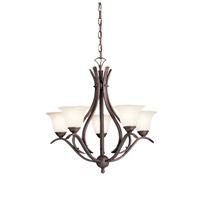 Kichler 2020TZ Dover 5 Light 24 inch Tannery Bronze Chandelier Ceiling Light