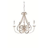 Kichler 2021NI Dover 5 Light 26 inch Brushed Nickel Chandelier Ceiling Light
