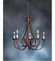 Kichler Lighting Dover 5 Light Chandelier in Tannery Bronze 2021TZ