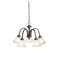 Kichler 2022TZ Hastings 5 Light 23 inch Tannery Bronze Chandelier Ceiling Light