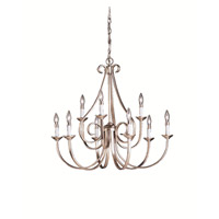 Dover 9 Light 33 inch Brushed Nickel Chandelier Ceiling Light