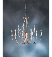 Kichler Lighting Dover 9 Light Chandelier in Brushed Nickel 2031NI alternative photo thumbnail