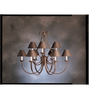 Kichler 2031TZ Dover 9 Light 33 inch Tannery Bronze Chandelier Ceiling Light alternative photo thumbnail