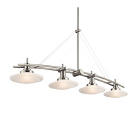 Kichler 2043NI Structures 4 Light 48 inch Brushed Nickel Island Light Ceiling Light
