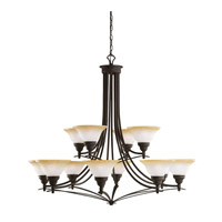Kichler Lighting Pomeroy 12 Light Chandelier in Distressed Black 2048DBK photo thumbnail