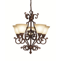 Kichler Lighting Larissa 5 Light Chandelier in Tannery Bronze w/ Gold Accent 2049TZG