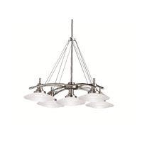 Structures 5 Light 31 inch Brushed Nickel Pendant Ceiling Light