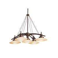Kichler Lighting Structures 5 Light Pendant in Olde Bronze 2055OZ