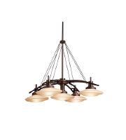 Kichler Lighting Structures 5 Light Pendant in Olde Bronze 2055OZ alternative photo thumbnail
