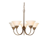 Kichler 2076OZ Telford 5 Light 24 inch Olde Bronze Chandelier Ceiling Light alternative photo thumbnail