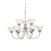 Kichler 2077NI Telford 9 Light 34 inch Brushed Nickel Chandelier Ceiling Light