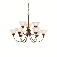 Kichler 2077OZ Telford 9 Light 34 inch Olde Bronze Chandelier Ceiling Light