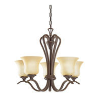 Kichler 2085OZ Wedgeport 5 Light 22 inch Olde Bronze Chandelier Ceiling Light
