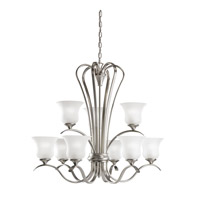 Kichler Lighting Wedgeport 9 Light Chandelier in Brushed Nickel 2086NI photo thumbnail