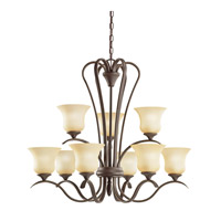 Kichler Lighting Wedgeport 9 Light Chandelier in Olde Bronze 2086OZ photo thumbnail