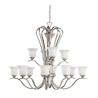 Kichler Lighting Wedgeport 12 Light Chandelier in Brushed Nickel 2087NI photo thumbnail