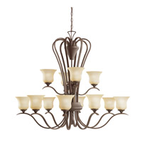 Kichler Lighting Wedgeport 12 Light Chandelier in Olde Bronze 2087OZ photo thumbnail