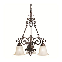 Kichler Lighting Wilton 3 Light Chandelier in Carre Bronze 2088CZ