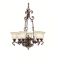 Kichler Lighting Wilton 6 Light Chandelier in Carre Bronze 2089CZ photo thumbnail