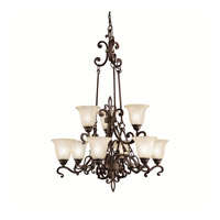 Kichler Lighting Wilton 9 Light Chandelier in Carre Bronze 2091CZ