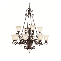 Kichler Lighting Wilton 12 Light Chandelier in Carre Bronze 2092CZ photo thumbnail
