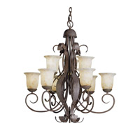 Kichler Lighting High Country 9 Light Chandelier in Old Iron 2109OI photo thumbnail