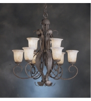 Kichler Lighting High Country 9 Light Chandelier in Old Iron 2109OI alternative photo thumbnail