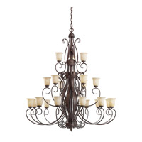 Kichler Lighting High Country 21 Light Chandelier in Old Iron 2114OI photo thumbnail