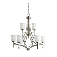 Kichler Lighting Wharton 9 Light Chandelier in Brushed Nickel 2121NI