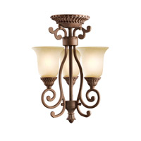 Kichler Lighting Larissa 3 Light Mini Chandelier in Tannery Bronze w/ Gold Accent 2215TZG