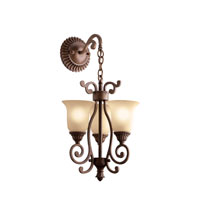 Kichler Lighting Larissa 3 Light Mini Chandelier in Tannery Bronze w/ Gold Accent 2215TZG alternative photo thumbnail