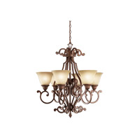 Kichler 2216TZG Larissa 6 Light 29 inch Tannery Bronze w/ Gold Accent Chandelier Ceiling Light