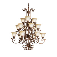 Kichler Lighting Larissa 15 Light Chandelier in Tannery Bronze w/ Gold Accent 2218TZG