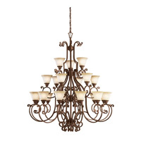 Kichler Lighting Larissa 21 Light Chandelier in Tannery Bronze w/ Gold Accent 2219TZG photo thumbnail