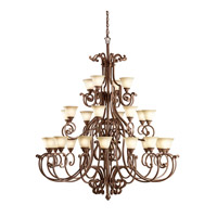 Kichler Lighting Larissa 28 Light Chandelier in Tannery Bronze w/ Gold Accent 2220TZG photo thumbnail