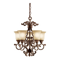 Kichler Lighting Larissa 5 Light Mini Chandelier in Tannery Bronze w/ Gold Accent 2303TZG thumb