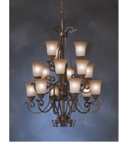Kichler Lighting Larissa 15 Light Mini Chandelier in Tannery Bronze w/ Gold Accent 2307TZG alternative photo thumbnail