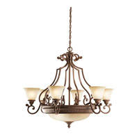Kichler Lighting Larissa 9 Light Chandelier in Tannery Bronze w/ Gold Accent 2313TZG