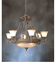 Kichler Lighting Larissa 9 Light Chandelier in Tannery Bronze w/ Gold Accent 2313TZG alternative photo thumbnail