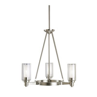 Kichler 2343NI Circolo 3 Light 22 inch Brushed Nickel Chandelier Ceiling Light