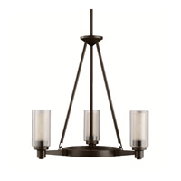 Kichler 2343OZ Circolo 3 Light 22 inch Olde Bronze Chandelier Ceiling Light