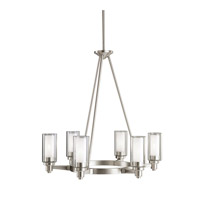 Circolo 6 Light 26 inch Brushed Nickel Chandelier Ceiling Light