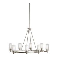 Circolo 8 Light 25 inch Brushed Nickel Chandelier Ceiling Light